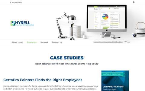 Screenshot of Case Studies Page hyrell.com - Case Studies - Hyrell - captured Feb. 6, 2020