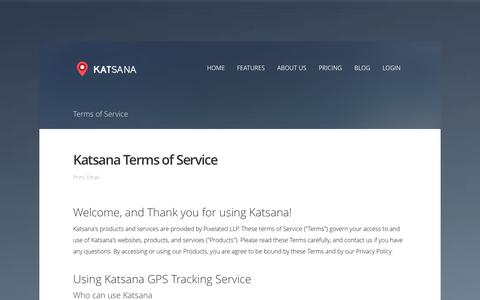 Screenshot of Terms Page katsana.com - Terms of Service - Katsana GPS Tracking System Malaysia - captured Sept. 17, 2014