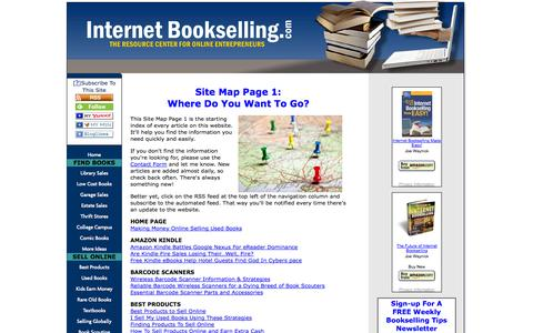 Screenshot of Site Map Page internetbookselling.com - Site Map Page 1: Where Do You Want To Go? - captured Sept. 23, 2014