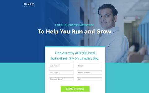 Screenshot of Landing Page dexmedia.com - DexHub | Run and Grow Your Legal Business - captured Jan. 29, 2017
