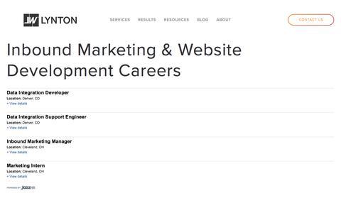 LyntonWeb Careers -  Inbound Marketing Consultants, Development