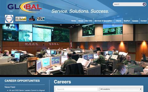 Screenshot of Jobs Page globaldllc.com - Global Dimensions, LLC. - captured Oct. 13, 2018