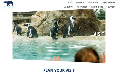 Screenshot of Maps & Directions Page vilaszoo.org - Visit - Henry Vilas Zoo - captured Nov. 10, 2018