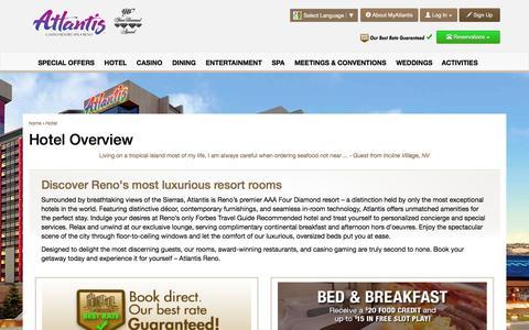 Screenshot of atlantiscasino.com - Reno Luxury Hotel | Atlantis Casino Resort Spa - captured March 20, 2016
