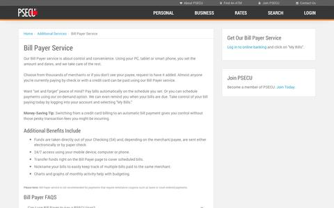 PSECU - Bill Payer Service
