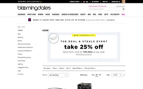 Home Sale: Furniture, Bedding & Cookware on Sale - Bloomingdale's