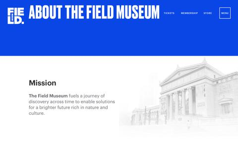 Screenshot of About Page fieldmuseum.org - About the Museum | Field Museum - captured Sept. 24, 2018