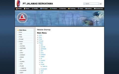 Screenshot of Site Map Page jalamas.com - jalamas - captured Oct. 1, 2014