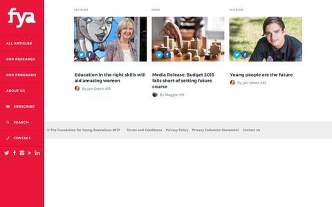 Screenshot of Blog fya.org.au - blog   FYA - captured April 7, 2017
