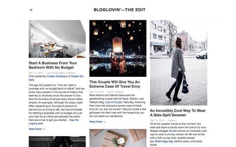 Screenshot of Blog bloglovin.com - Bloglovin'—the Edit - captured Dec. 10, 2015
