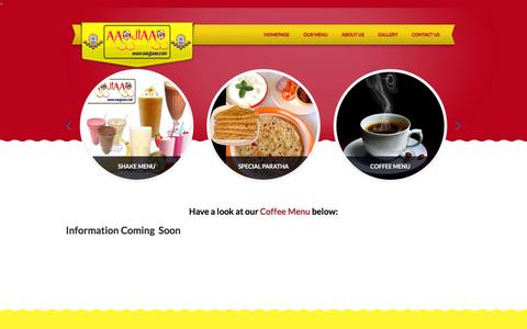 Screenshot of Menu Page aaojiaao.com - COFFEE MENU | welcome to aaojiaao - captured March 6, 2016