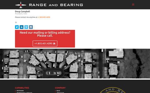 Screenshot of Contact Page rangeandbearing.com - CONTACT | RANGE and BEARING - captured Oct. 18, 2018