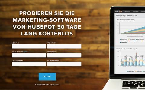 Screenshot of Trial Page hubspot.de - HubSpot Marketing-Software | 30-Tage-Testversion - captured April 28, 2017