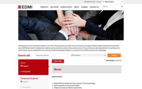 Screenshot of Jobs Page edmi-meters.com - EDMI - captured Oct. 8, 2016