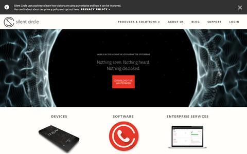 Silent Circle | Secure Enterprise Communication Solutions Firm