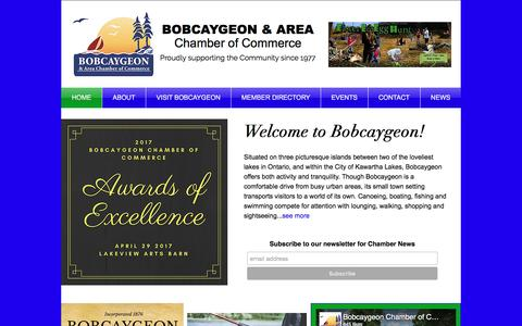 Screenshot of Home Page bobcaygeon.org - Bobcaygeon Chamber of Commerce - captured April 26, 2017