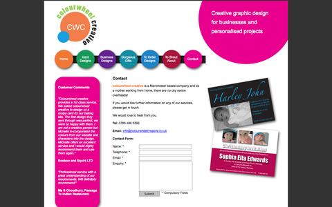 Screenshot of Contact Page colourwheelcreative.co.uk - Contact Colourwheel Creative - captured Oct. 3, 2014