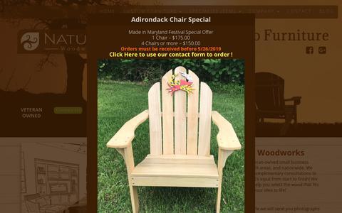 Screenshot of Home Page naturalwoodworks.com - HOME - Natural Woodworks custom built furniture - captured June 4, 2019