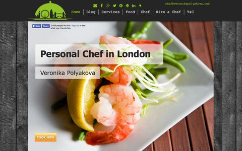 Screenshot of Home Page personalcheflondon.co.uk - Personal Chef | London - captured Oct. 2, 2014