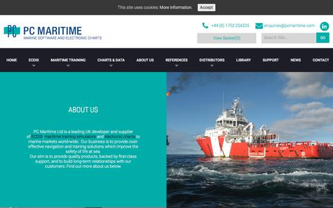 Screenshot of About Page pcmaritime.com - About Us - PC Maritime Take a look at what Our Business is About - captured Sept. 22, 2018