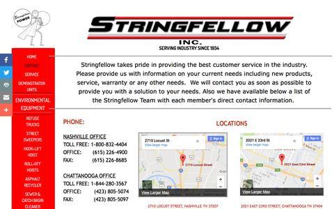 Screenshot of Contact Page stringfellow.bz - Contact - captured Dec. 16, 2016