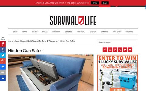 Screenshot of survivallife.com - Hidden Gun Safes | Survival Life - captured Feb. 19, 2017