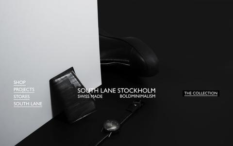 Screenshot of Home Page south-lane.com - SOUTH LANE - Luxury Accessories made in Italy and Switzerland – SOUTH LANE STOCKHOLM - captured Oct. 20, 2018