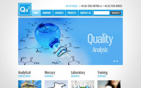 Screenshot of Home Page qa3.co.uk - Qa³ | - captured Sept. 29, 2014