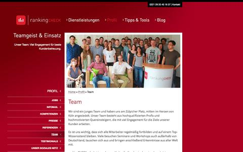 Screenshot of Team Page ranking-check.de - Ihre Kölner Internet-Marketing Agentur - captured Sept. 18, 2014