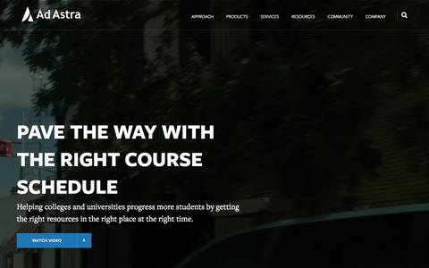 Screenshot of Home Page aais.com - Ad Astra - Data-informed higher education solutions - captured Aug. 10, 2019