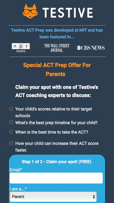 Testive ACT Prep - Talk to an ACT coaching expert!