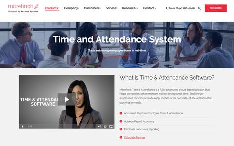 Screenshot of Products Page advancesystemsinc.com - Best Time and Attendance System - Accurately Capture Employee Hours - captured April 2, 2018