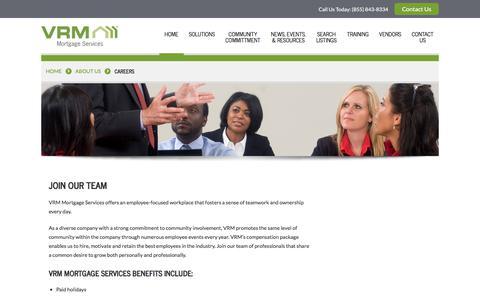 Screenshot of Jobs Page vrmco.com captured Aug. 30, 2017