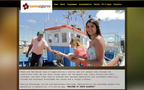 Screenshot of Home Page tastealgarve.com - Taste Algarve - captured Sept. 30, 2014