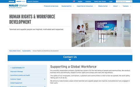 Screenshot of Team Page ecolab.com - Human Rights and Workforce Development - captured Sept. 20, 2018