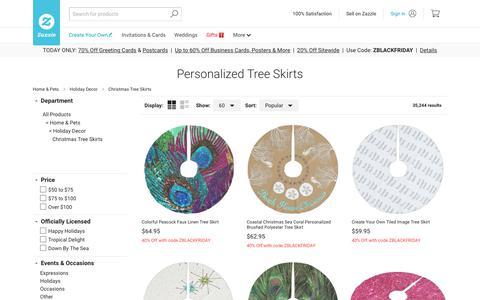Screenshot of zazzle.com - Personalized Tree Skirts - Christmas Tree Skirt   Zazzle - captured Nov. 24, 2017