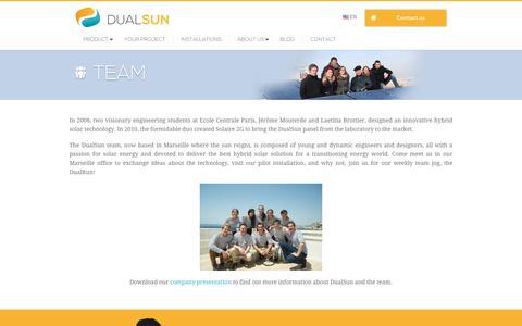 Screenshot of Team Page dualsun.fr - Team - DualSun - captured Jan. 10, 2017