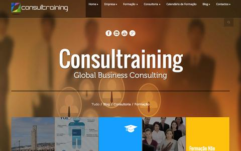Screenshot of Home Page consultraining.pt - Consultraining • Figueira da Foz • Consultraining - Global Business Consulting - captured Sept. 30, 2014