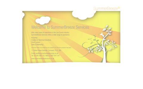 Screenshot of Home Page summerbreezeservices.co.uk - Summer Breeze Services - captured Sept. 30, 2014