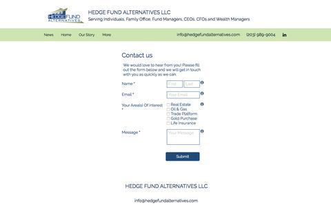 Screenshot of Contact Page hedgefundalternatives.com - Home | Hedge Fund Alternatives LLC | Contact Us - captured May 17, 2017