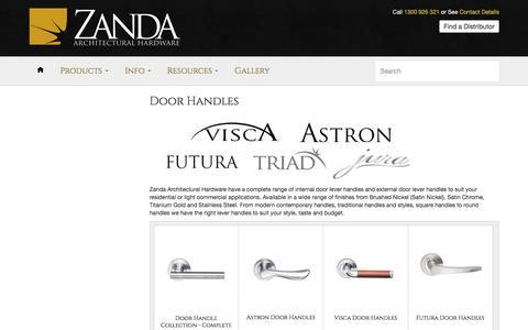 Door Handles – Zanda Architectural Hardware