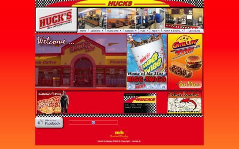 Screenshot of Home Page go2hucks.com - Welcome to Hucks online - - captured Oct. 3, 2014
