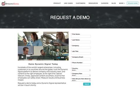 Request A Demo Of Dynamic Signal