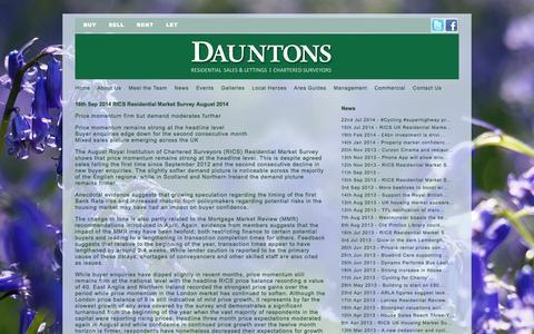 Screenshot of Press Page dauntons.co.uk - Pimlico Estate Agents and Chartered Surveyors: Dauntons | News - captured Sept. 30, 2014