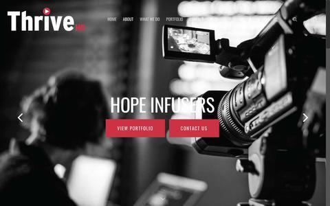 Screenshot of Home Page thrivehd.com - ThriveHD - Business Video Production & Digital Marketing - captured Jan. 12, 2018