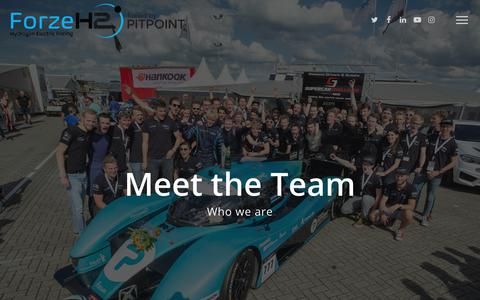 Screenshot of Team Page forze-delft.nl - Team – Forze Delft - captured Oct. 28, 2017