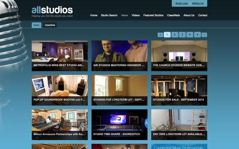Screenshot of Press Page allstudios.co.uk - All Studios - Blog - captured Oct. 4, 2014