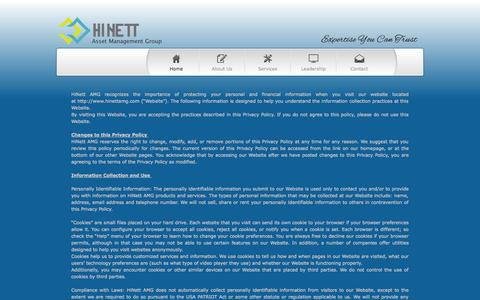 Screenshot of Privacy Page hinettamg.com - HiNett | Privacy - captured Oct. 2, 2014