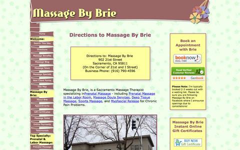 Screenshot of Maps & Directions Page sacramento-massage-by-brie.com - Directions to Massage By Brie in Midtown, Sacramento - captured Nov. 18, 2016