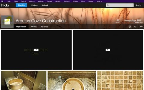 Screenshot of Flickr Page flickr.com - Flickr: Arbutus Cove Construction's Photostream - captured Oct. 23, 2014